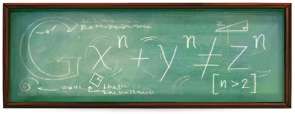 Google Logo: I have discovered a truly marvelous proof of this theorem, which this doodle is too small to contain. - Pierre de Fermat's birthday, French lawyer and amateur mathematician